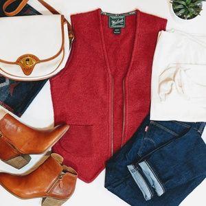 Woolrich Jackets & Coats - WOOLRICH Red Wool Vest